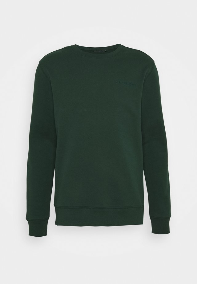 THROW C NECK - Felpa - hunter green