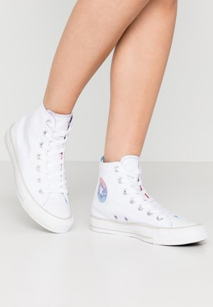 CHUCK TAYLOR ALL STAR - Høye joggesko - white/multicolor/pale putty