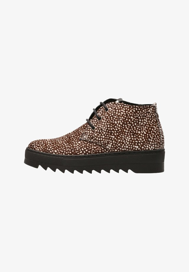 TRIX - Lace-up ankle boots - zwart