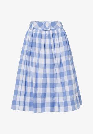 VICHYKARO - A-line skirt - hellblau