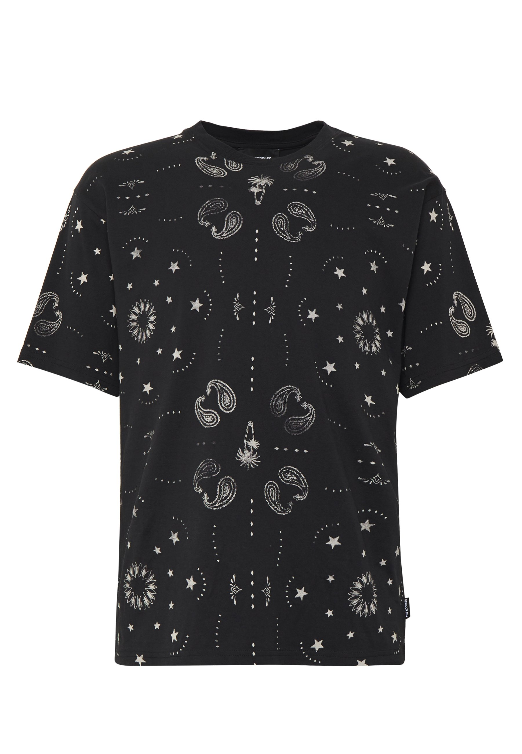 The Kooples BANDANA ALLOVER - T-shirt imprimé - black/white