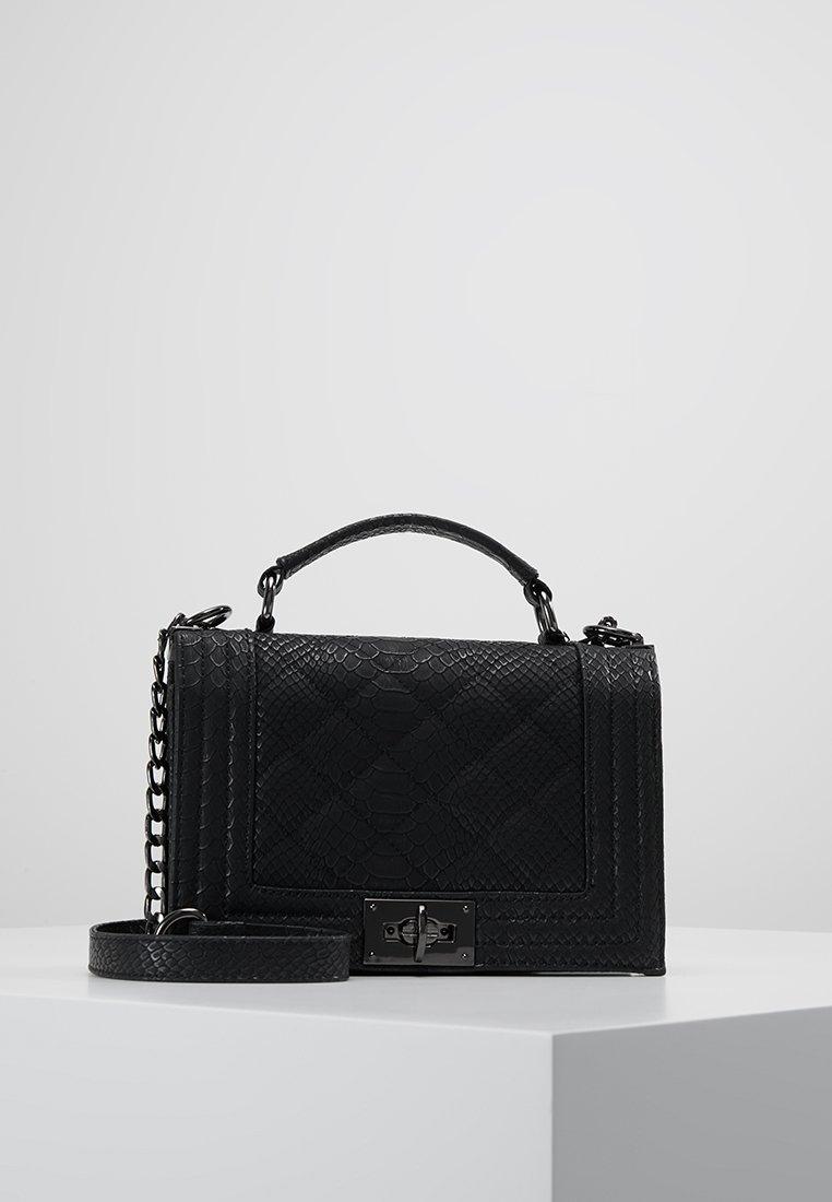 Gina Tricot - MIA BAG - Across body bag - mottled black