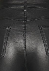 Vila - VICOMMIT COATED ZIP PANT - Trousers - black - 2