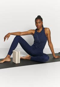 Nike Performance - DRY TANK  YOGA - Sports shirt - midnight navy - 1