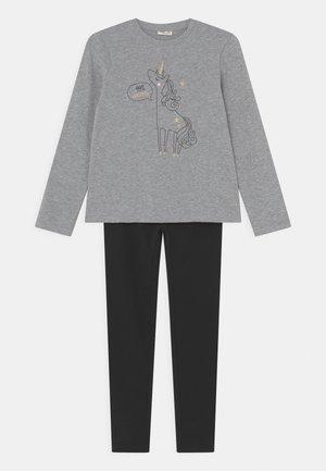 KID SET - Tracksuit - mottled grey/black