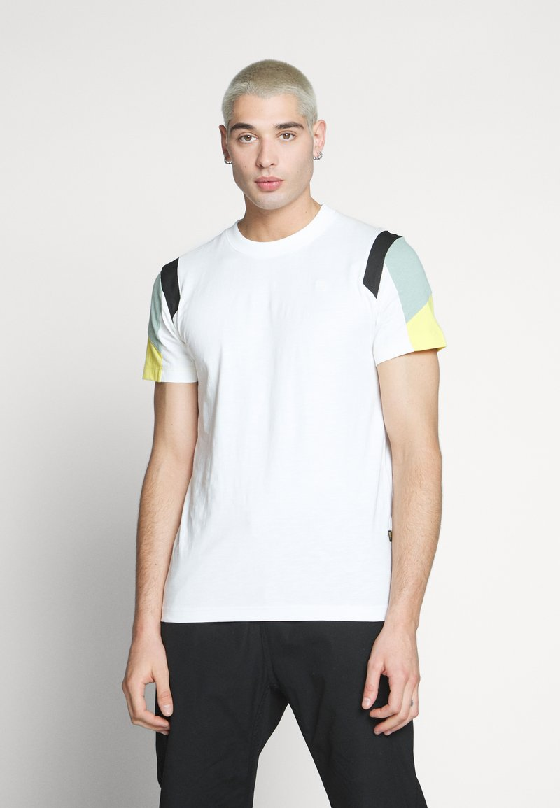 G-Star - MOTAC FABRIC MIX R T S\S - Print T-shirt - milk
