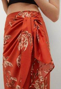 Mango - Wrap skirt - rojo - 4