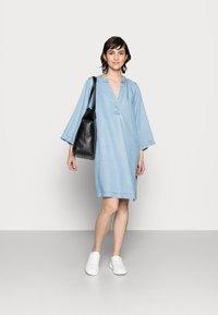Part Two - INGELINE - Denimové šaty - light blue denim - 1