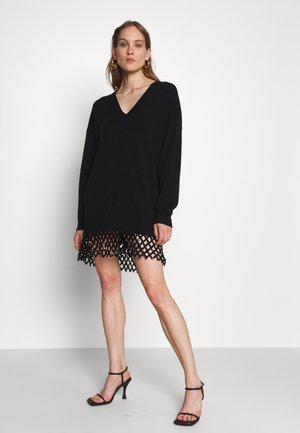 PICA ABITO MISTO CON RETE - Jumper dress - black