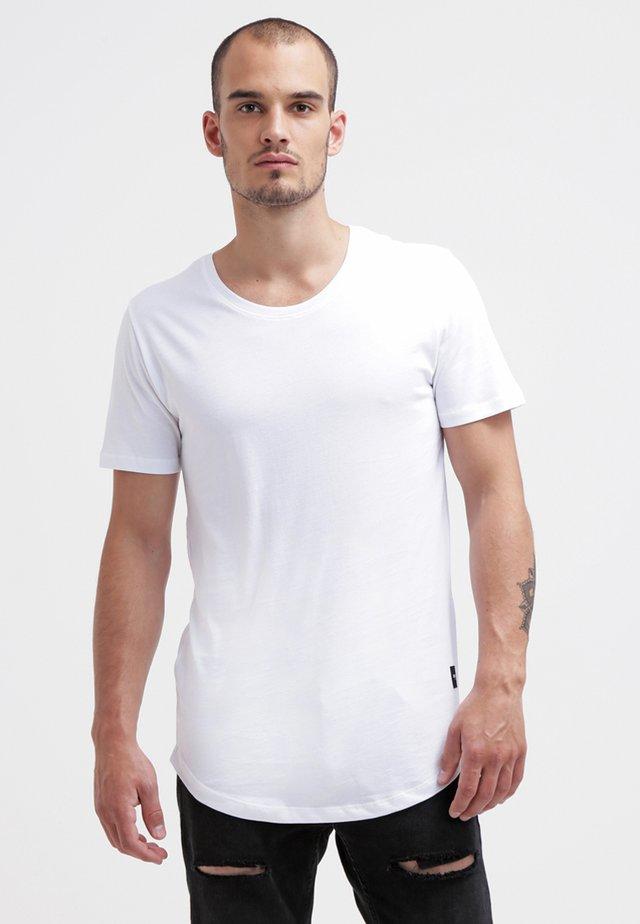 ONSMATT LONGY TEE - T-Shirt basic - white