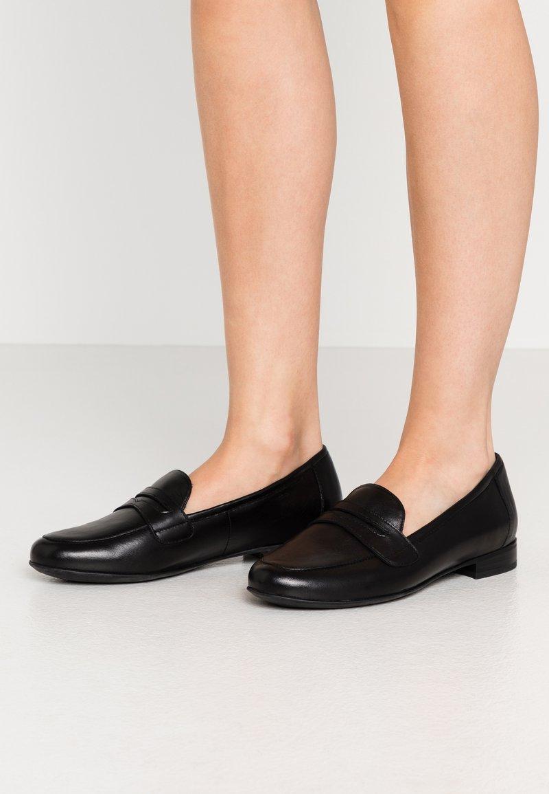 Caprice - Nazouvací boty - black