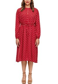 Triangle - MIT ORNAMENTALEM MUSTER - Day dress - red aop - 6