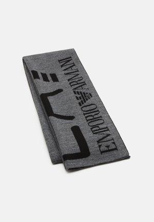 Scarf - dark grey melange/black