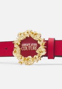 Versace Jeans Couture - VITELLO BELTS - Belt - blood - 4