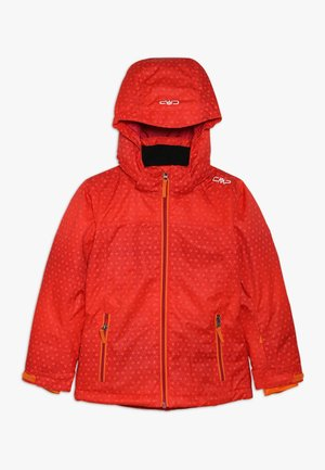 GIRL SNAPS HOOD - Ski jacket - bitter-granita-orange