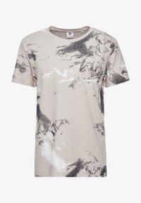 Jack & Jones - JCOMONT TEE CREW NECK - T-shirt med print - feather gray - 4