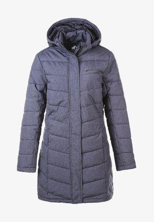 WINTERJACKE MELANGE LONG PRO-LITE - Down coat - black