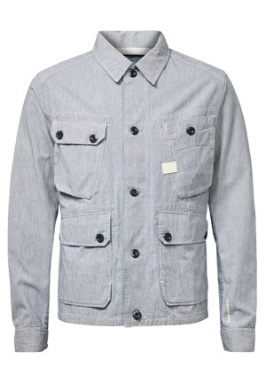 FIELD - Light jacket - sun faded indigo stripe