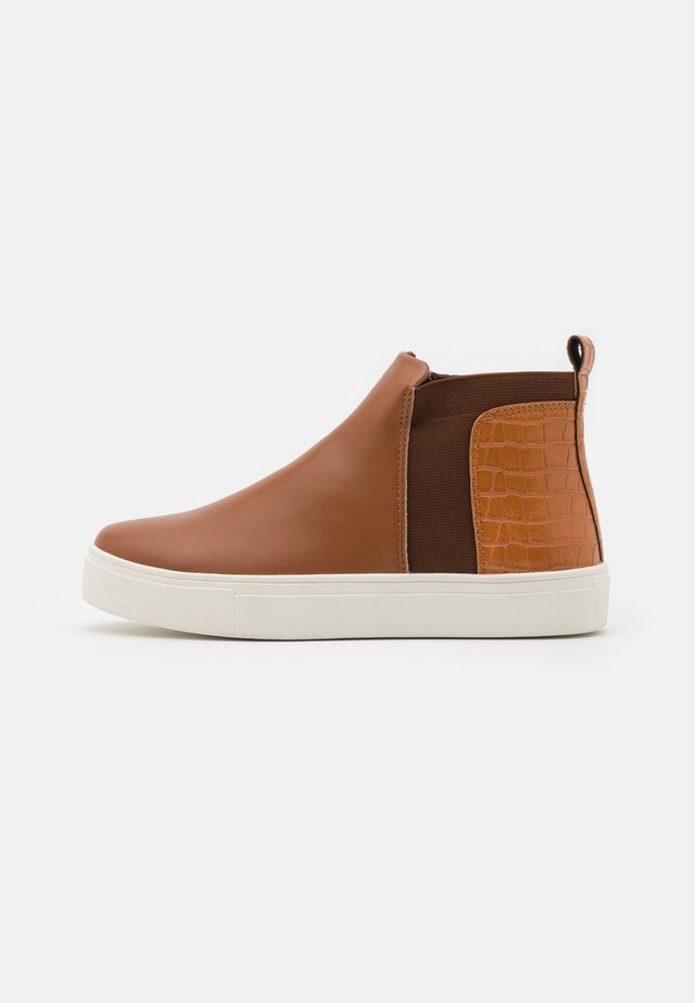 WIDE FIT CODY - Ankle boots - tan