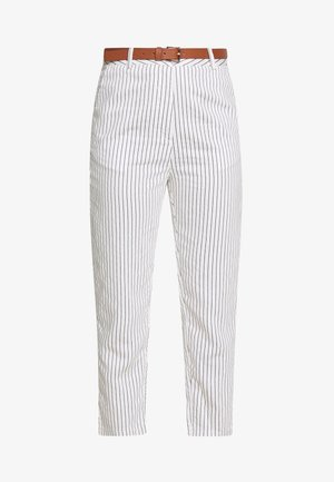 PIFAGE - Trousers - off white/black