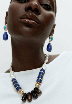 Necklace - dark blue