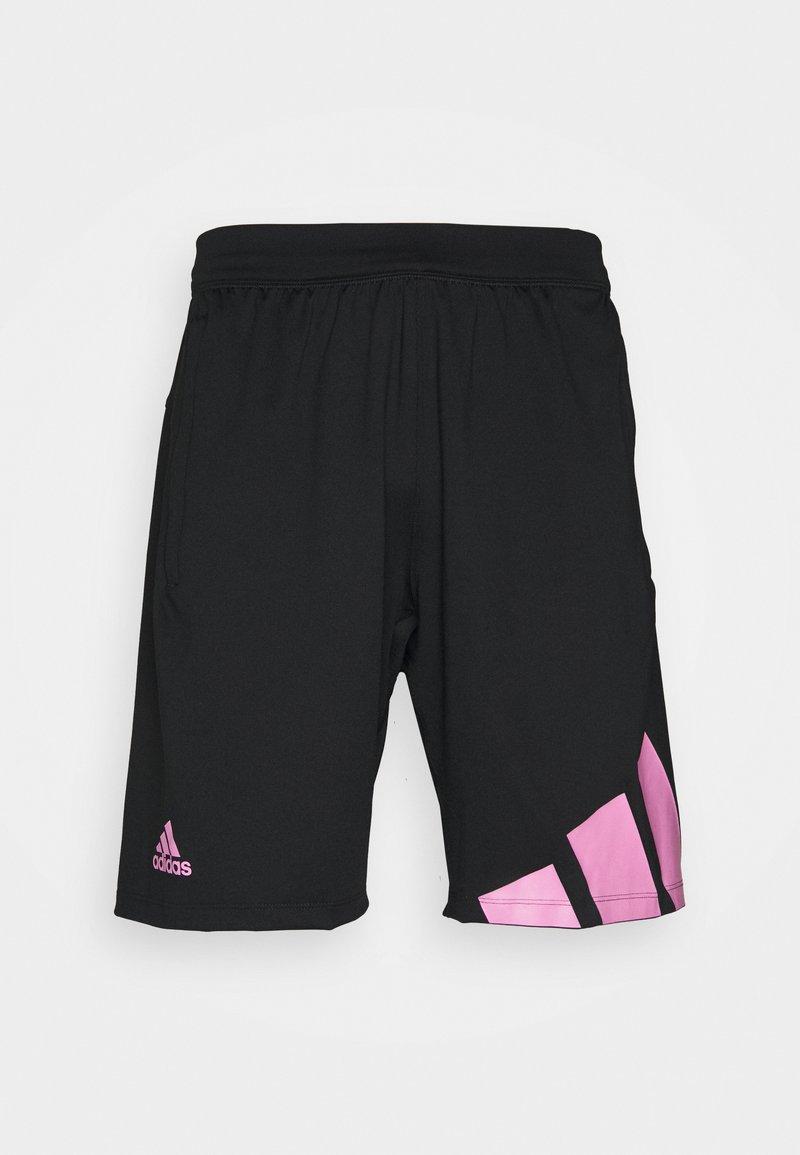 adidas Performance - 3 BAR SHORT - Träningsshorts - black/pink