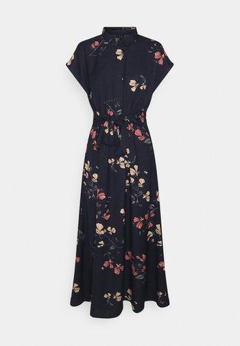 VMHALLIE LONG TIE DRESS - Shirt dress - night sky/hallie
