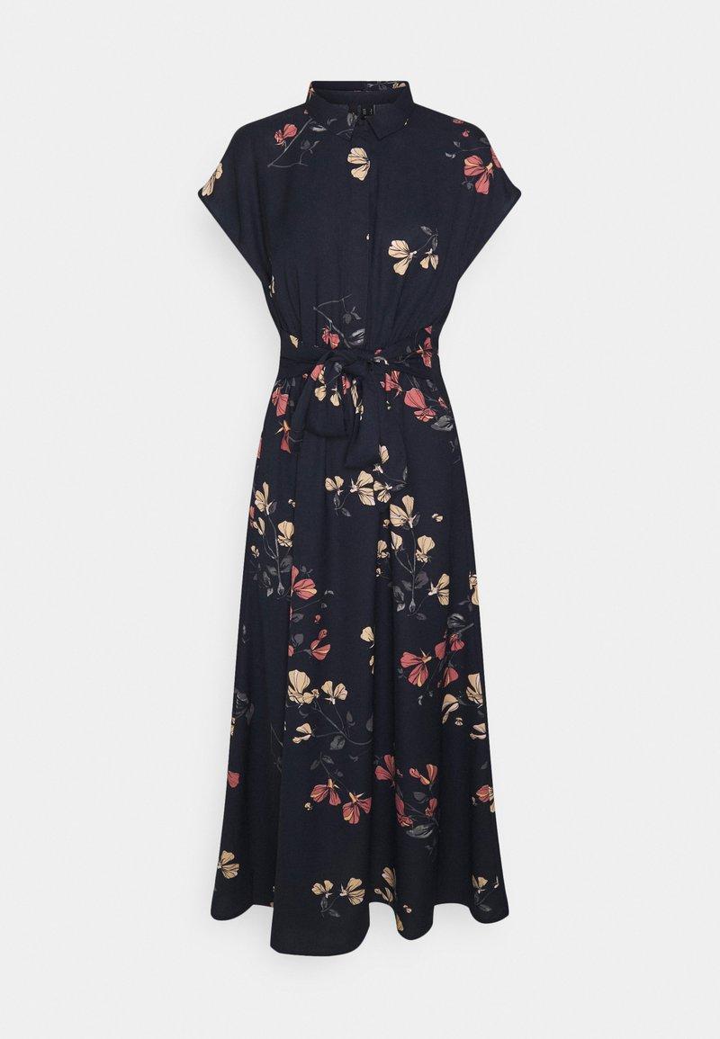Vero Moda - VMHALLIE LONG TIE DRESS - Shirt dress - night sky/hallie