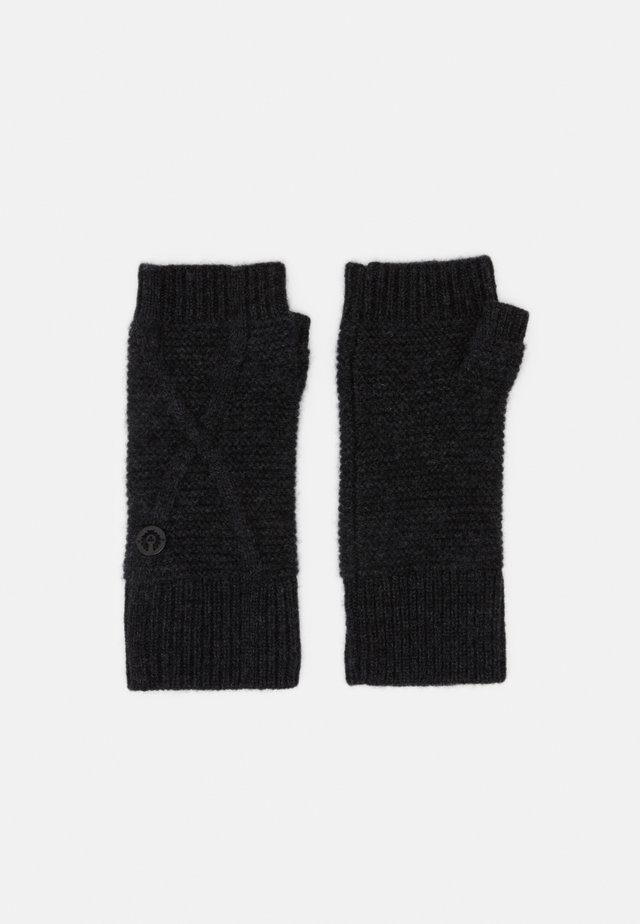 EDENVALE GLOVE - Fingerless gloves - deep charcoal