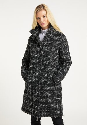 Winter coat - schwarz weiss