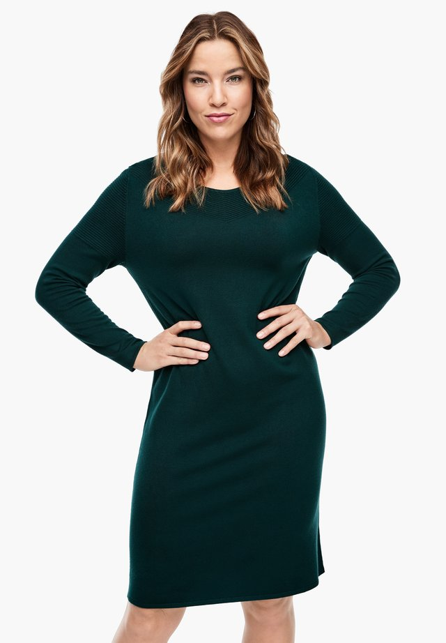 Shift dress - emerald