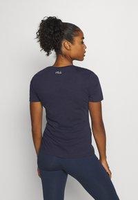 Fila - LADAN TEE - Print T-shirt - black iris - 2