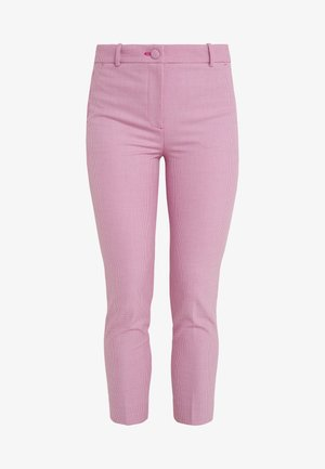 CAMERON HOUNDSTOOTH - Trousers - vintage fuchsia/ ivory