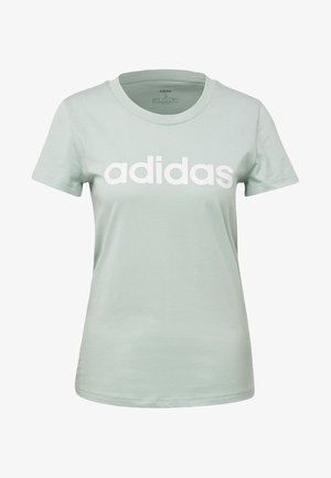 ESSENTIALS LINEAR T-SHIRT - Print T-shirt - green/white