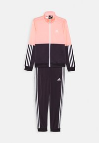 adidas Performance - ESSENTIALS PRIMEGREEN SPORTS TRACKSUIT - Tracksuit - coral/purple/white - 0