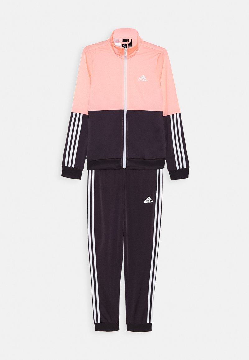 adidas Performance - ESSENTIALS PRIMEGREEN SPORTS TRACKSUIT - Tracksuit - coral/purple/white