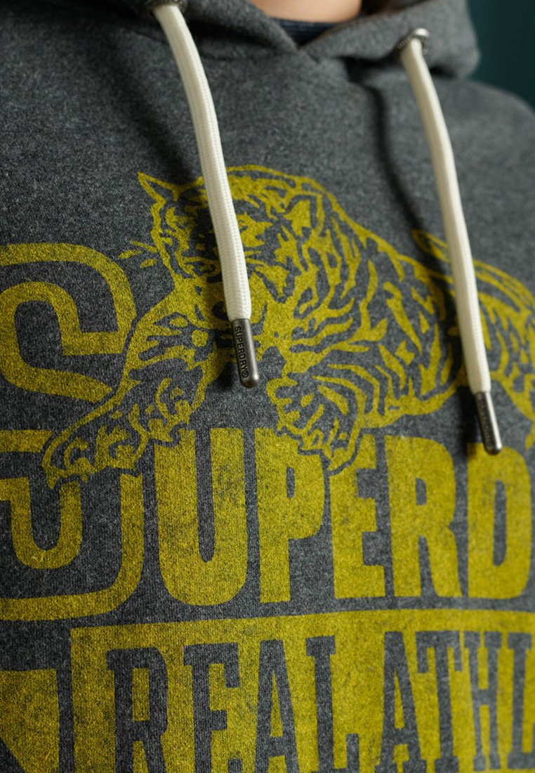 Superdry RE-WORKED CLASSICS - Kapuzenpullover - dark marl/dunkelgrau IGQLjc