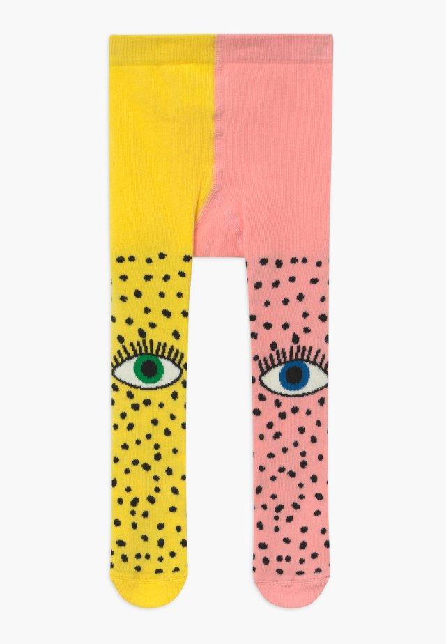 BOWIE FEET - Strømpebukser - yellow/pink