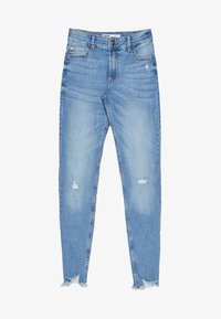 Bershka - LOW WAIST - Jeans Skinny Fit - Light Blue - 5
