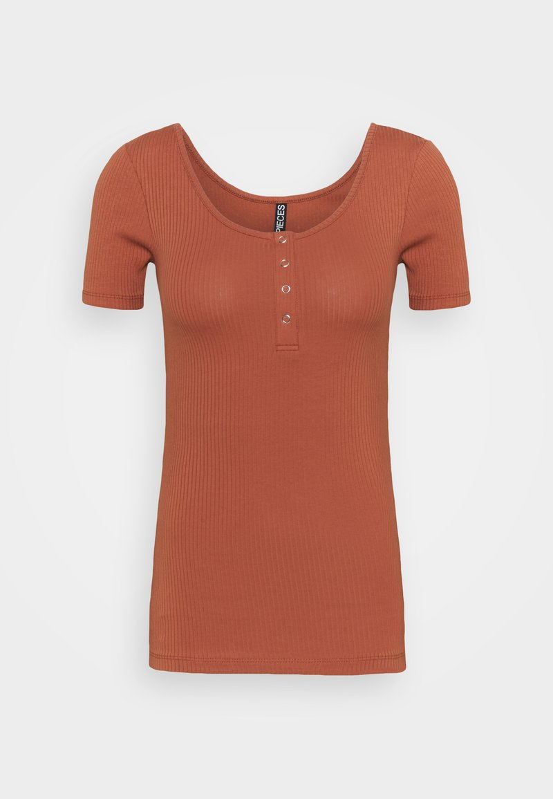 PIECES Tall - PCKITTE TALL - Basic T-shirt - copper brown