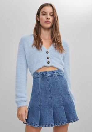 MIT KELLERFALTEN  - Denim skirt - blue denim