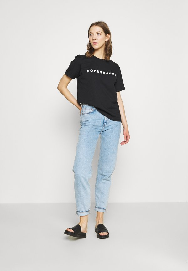 Even&Odd T-shirt z nadrukiem - black Nadruk Odzież Damska LMFR WY 8
