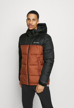 PIKE LAKE HOODED JACKET - Zimní bunda - dark amber/black