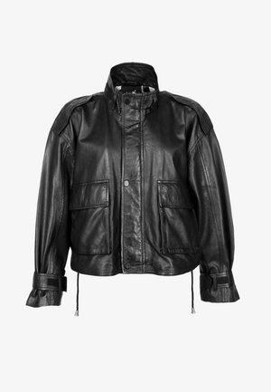 STEHKRAGEN - Leather jacket - black