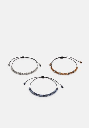 SLIM BEADED 3 PACK - Bracelet - black