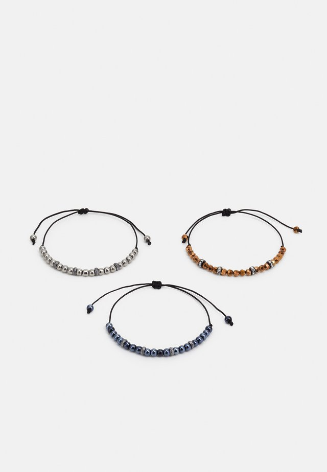 SLIM BEADED 3 PACK - Náramek - black