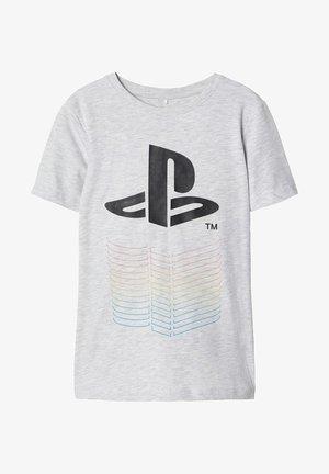 PLAYSTATION-PRINT - T-shirt med print - light grey melange