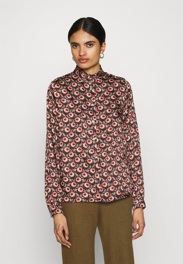 VIMARIE SIMPLE RUFFLE - Button-down blouse - navy blazer
