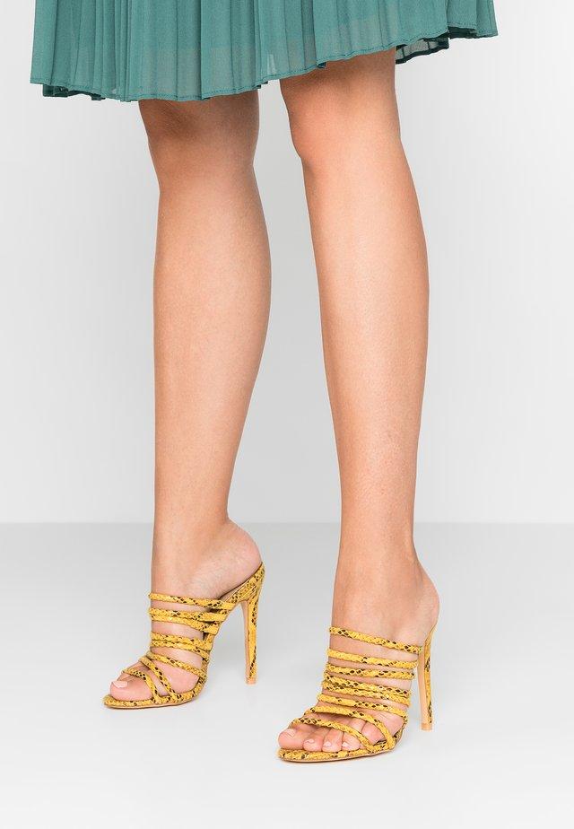 SAFFIYA - Heeled mules - yellow