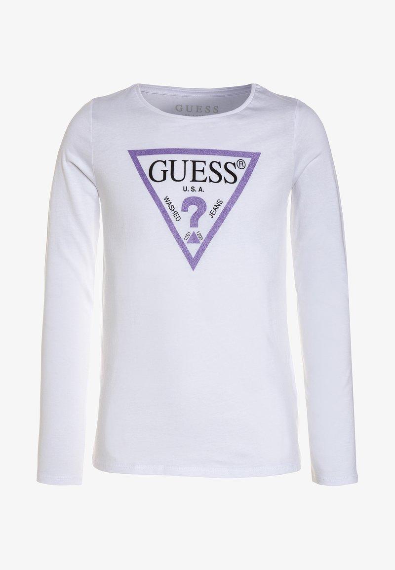 Guess - Camiseta de manga larga - true white